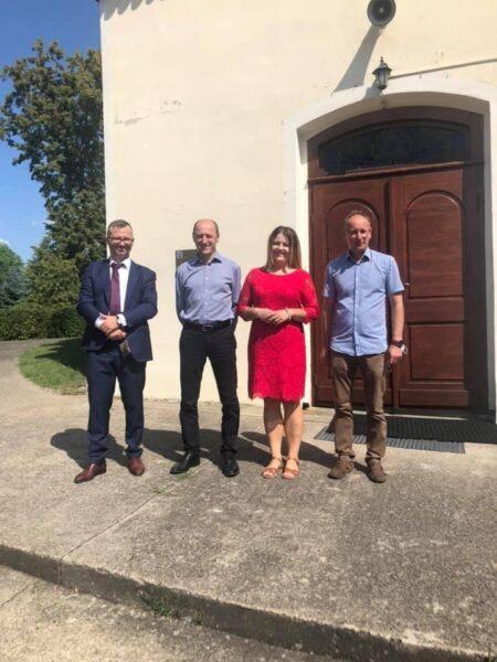 Zespół koordynujący realizację projektu: (od lewej) Marcin Groński, Jan Kościelniak, Marzena Smulska i Tomasz Soróbka.