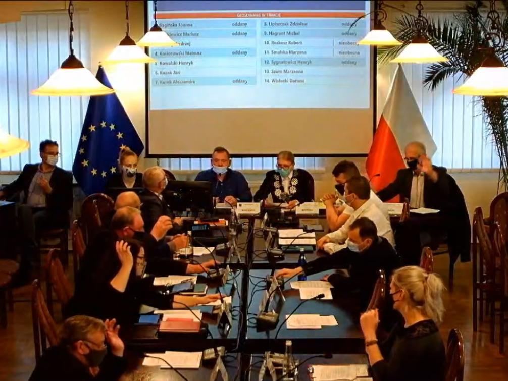 Posiedzenie rady gminy Rudna